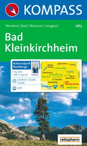 9783854910701: Carta escursionistica n. 063. Austria. Carinzia. Bad Kleinkirchheim, Natinalpark Nockberge 1:25.000. Ediz. multilingue. Adatto a GPS. DVD-ROM. Digital map (Carte de Randon)