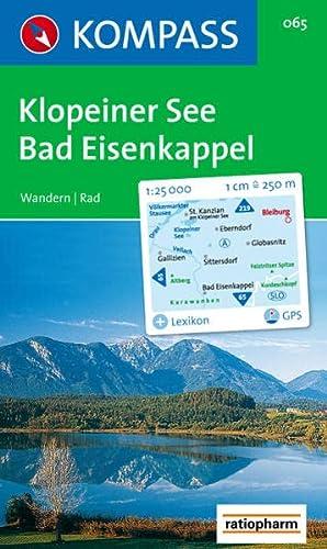 9783854910749: Carta escursionistica n. 065. Austria. Carinzia. Klopeiner See, Bad Eisenkappel 1:25.000. Con carta panoramica. Adatto a GPS. DVD-ROM digital map