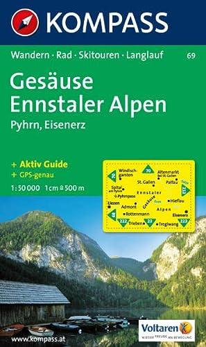 9783854910787: Carta escursionistica n. 69. Austria. Ad est delle Alpi. Vienna, Stiria, Austria inferiore... Gesäuse, Pyhrn, Eisenerz 1:50.000. Adatto a GPS. DVD-ROM digital map