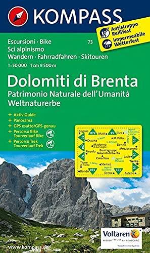 9783854910824: Carta escursionistica n. 73. Trentino, Veneto. Gruppo di Brenta 1:50.000