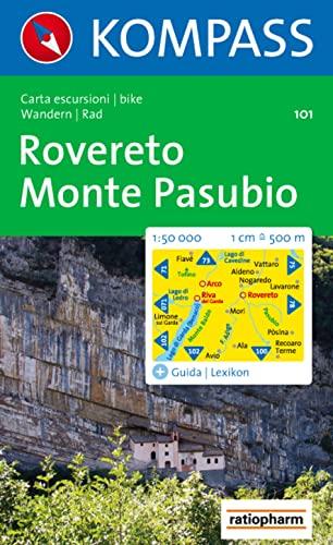 Carta escursionistica n. 101. Lago di Garda. Rovereto, Monte Pasubio 1:50000