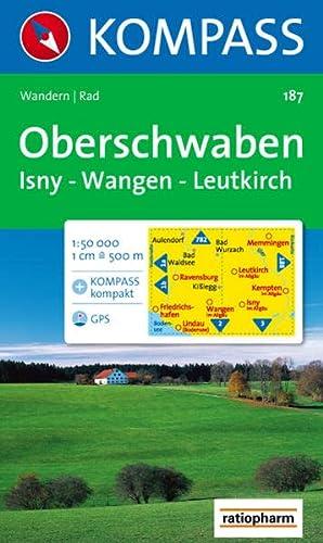 Kolori Kompass Wanderkarte: Isny Nummer 187 Mit Rad- und Wanderwegen Wangen