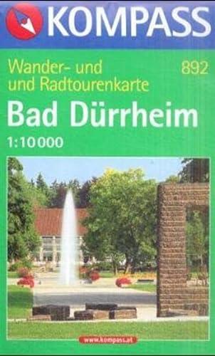 9783854911395: Bad Dürrheim 1 : 10 000: Wander- und Radtourenkarte. Mit Kurwegen