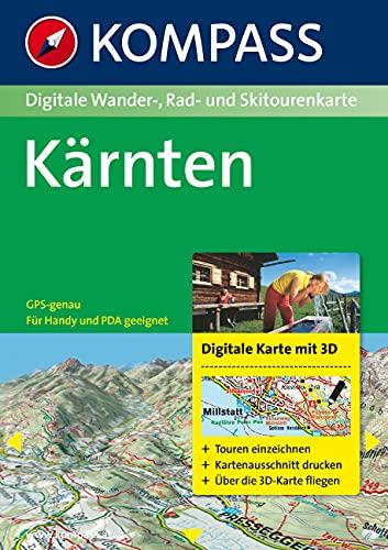 9783854912545: Carta digitale Austria n. 4295. Kärnten. Con DVD-ROM. Digital map