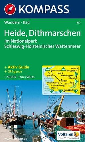 Heide, Dithmarschen im Nationalpark Schleswig-Holsteinisches Wattenmeer: 1:50.000, Wander- und Bikekarte - KOMPASS-Karten GmbH