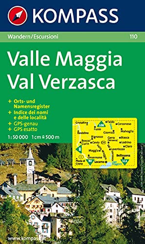 9783854913368: Carta escursionistica n. 110. Svizzera, Alpi occidentale. Valle Maggia, Val Verzasca 1:50.000. Adatto a GPS. DVD-ROM. Digital map