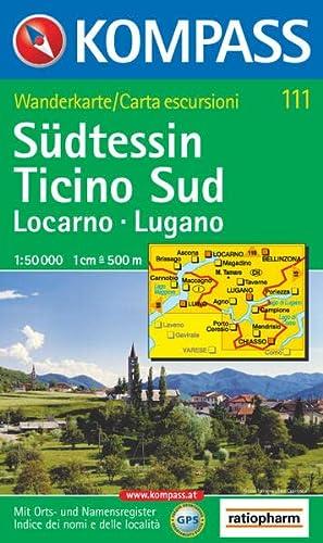 9783854913375: Carta escursionistica n. 111. Svizzera, Alpi occidentale. Locarno, Lugano, Ticino sud 1:50.000. Adatto a GPS. DVD-ROM. Digital map
