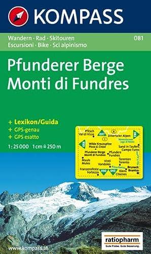 9783854914563: Carta escursionistica n. 081. Monti di Fundres 1:25.000. Adatto a GPS. Digital map. DVD-ROM