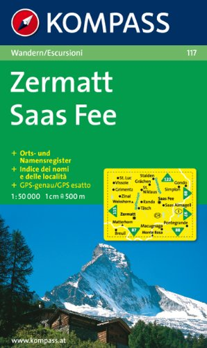9783854914662: Carta escursionistica n. 117. Svizzera, Alpi occidentale. Zermatt, Saas Fee 1:50.000. Adatto a GPS. DVD-ROM. Digital map