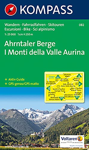 Imagen de archivo de Ahrntaler Berge/I Monti della Valle Aurina: Wandern / Rad / Skitouren. Carta escursioni / bike / sci alpinismo. GPS-genau. 1:25.000 a la venta por medimops