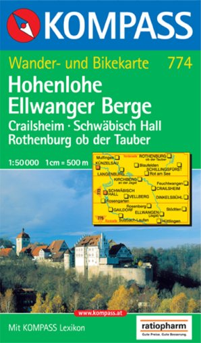 Kompass Karten, Hohenlohe, Ellwanger Berge