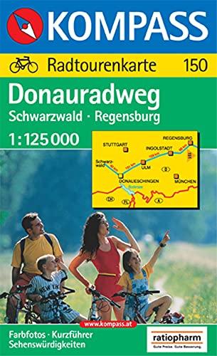 9783854915508: Donauradweg Schwarzwald - Regensburg 1 : 125 000: Radtourenkarte. Kurzführer, Sehenswürdigkeiten