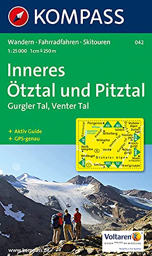 9783854916000: Carta escursionistica n. 042. Austria. Tirolo... Inneres Ötztal, Gurgler tal, Venter tal, Pitztal 1:25.000. Ediz. italiana, inglse e tedesca