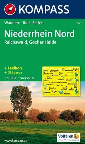 Niederrhein Nord - Reichswald - Gocher Heide: Wanderkarte mit Kurzführer, Radrouten und Reitwegen. GPS-genau. 1:50000: Wandern, Rad, Reiten (KOMPASS-Wanderkarten, Band 752) - KOMPASS-Karten GmbH