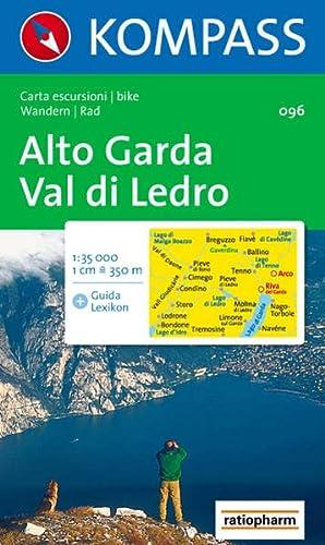 9783854916741: Carta escursionistica n. 96. Lago di Garda. Alto Garda, Val di Ledro 1:35000