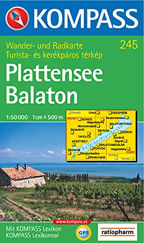 9783854916925: Carta escursionistica n. 245. Ungheria. Plattensee-Balaton 1:50.000. Adatto a GPS. Digital map. DVD-ROM