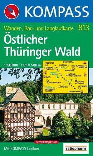 9783854917007: �stlicher Th�ringer Wald 1 : 50 000: Wander-, Rad- und Langlaufkarte