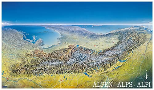 9783854917755: Alpenpanorama 349 Flat Map Kompass