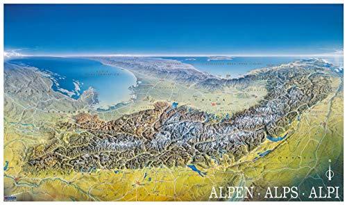 9783854917755: Alpenpanorama 349 Flat Map Kompass