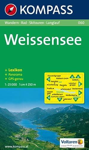 9783854917809: Carta escursionistica n. 060. Austria. Carinzia. Weissensee 1:25.000. Con carta panoramica. Adatto a GPS. DVD-ROM digital map