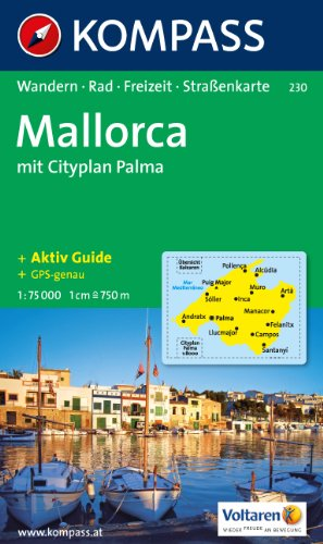 9783854918707: Carta escursionistica n. 230. Spagna. Baleari. Mallorca 1:75.000. Adatto a GPS. DVD-ROM. Digital map (Kompass)