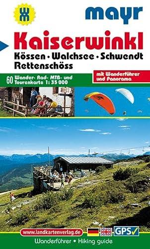 9783854919162: Kaiserwinkl.  K�ssen - Walchsee - Schwendt - Rettensch�ss 1 : 35 000: Wander-, Rad-, MTB- und Tourenkarte mit Panorama. GPS-geeignet