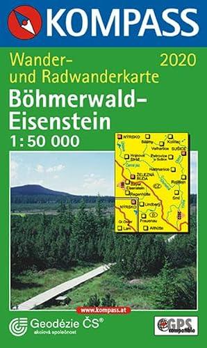 9783854919605: Carta escursionistica n. 2020. Repubblica Ceca. B�hmerwald/Eisenstein 1:50.000. Adatto a GPS. DVD-ROM digital map
