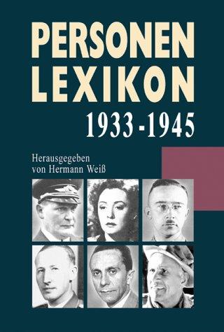 9783854927563: Personenlexikon 1933-1945