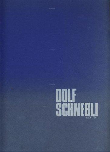 Entwurfsenterricht an Der Architekturabteilung Dolf Schnebli Architekt: by title]