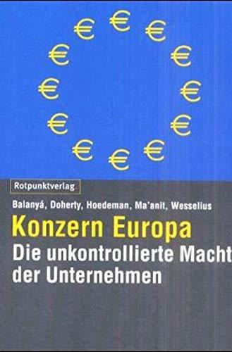 9783858692160: Konzern Europa.
