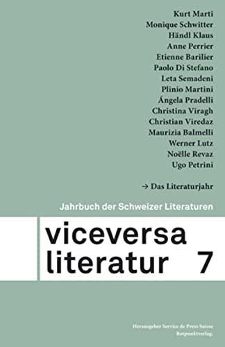 Viceversa: Jahrbuch der Schweizer Literaturen, Bd. 7.: Petrini, Ugo, Angela