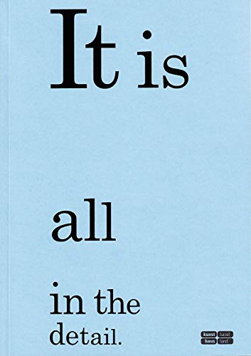 9783858814098: It Is All in the Detail /Anglais/Allemand (Schnelle Reihe from the Department of Art & Media)