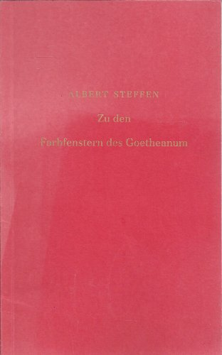 9783858890870: Inhalt einer Ansprache der Einweihung des Westfenster im Goetheanum. Michaeli 1945