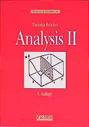 9783860254189: Analysis, Band II (German Edition)