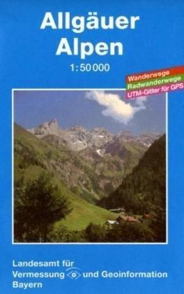 Allgäuer Alpen 1 : 50 000: Topographische Karte mit Wanderwegen, Radwanderwegen und Gitter für GPS-Nutzer - Allgäuer Alpen