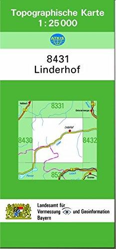 TK25 8431 Linderhof: Topographische Karte 1:25000