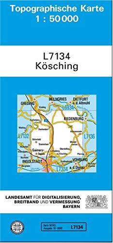 TK50 L7134 Kösching 1 : 50 000: Topographische Karte