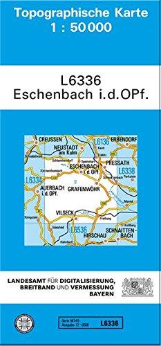 TK50 L6338 Eschenbach i.d.OPf: Topographische Karte 1:50000