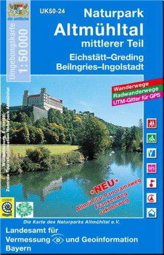 9783860384206: Naturpark Altmuhltal mittlerer Teil 1 : 50 000: Eichstatt, Greding, Beilngries, Ingolstadt. Altmuhltal-Panoramaweg, Frankenweg, Jakobsweg. Wanderwege, ... fur GPS. Die Karte des Naturparks Altmuhltal
