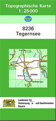 TK25 8236 Tegernsee: Topographische Karte 1:25000
