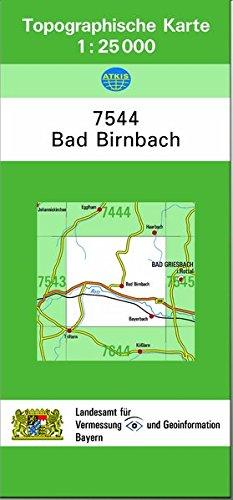 9783860385869: TK25 7544 Bad Birnbach: Topographische Karte 1:25000