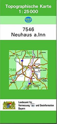 TK25 7546 Neuhaus a.Inn: Topographische Karte 1:25000
