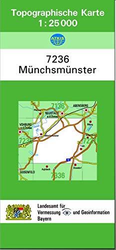 9783860386293: TK25 7236 Münchsmünster: Topographische Karte 1:25000