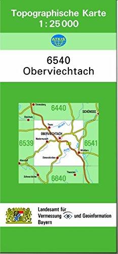 TK25 6540 Oberviechtach: Topographische Karte 1:25000