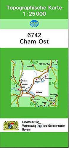 TK25 6742 Cham Ost: Topographische Karte 1:25000