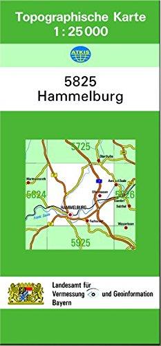 9783860387214: TK25 5825 Hammelburg: Topographische Karte 1:25000