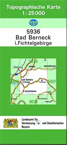 TK25 5936 Bad Berneck i.Fichtelgebirge: Topographische Karte 1:25000