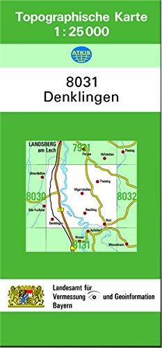 TK25 8031 Denklingen: Topographische Karte 1:25000