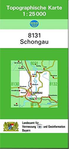 9783860387832: TK25 8131 Schongau: Topographische Karte 1:25000