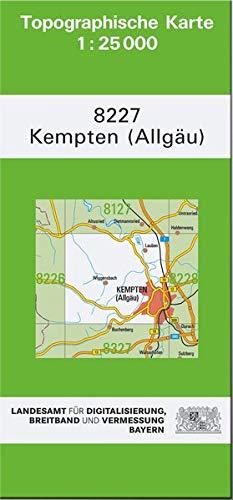TK25 8227 Kempten (Allgäu): Topographische Karte 1:25000